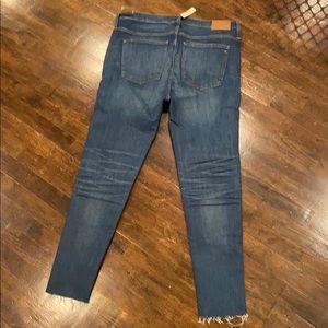 "Madewell Jeans - NWT Madewell 9"" High-Rise Skinny Raw Hem Jeans"